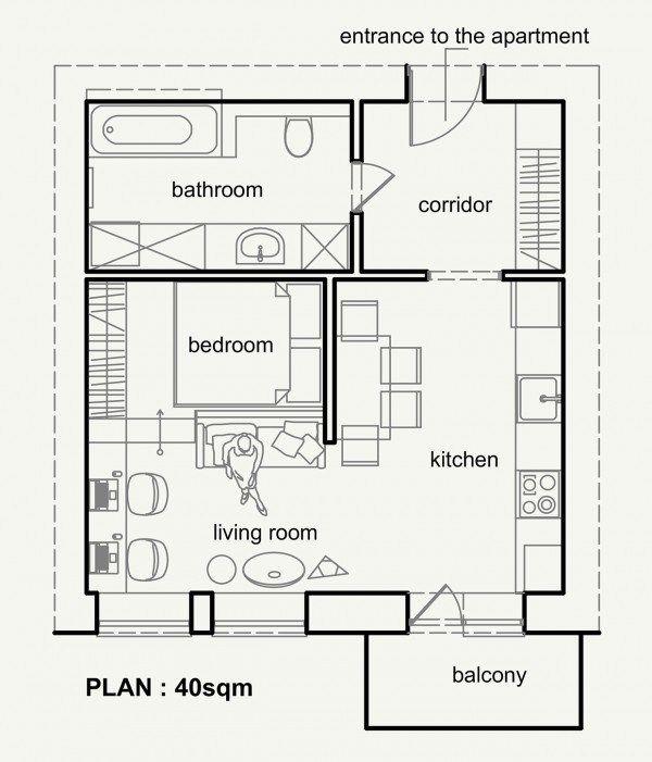 Petit appartement, belle organisation - PLANETE DECO a homes world