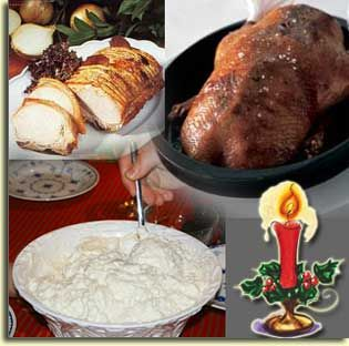 The Danish Christmas dinner is very much influenced by the fact that Danes love good food and the coziness - (called hygge) - of eating together with friends and family.  The concept of hygge is best descriped as warm, fuzzy, cozy, comfortable feeling of well-being.