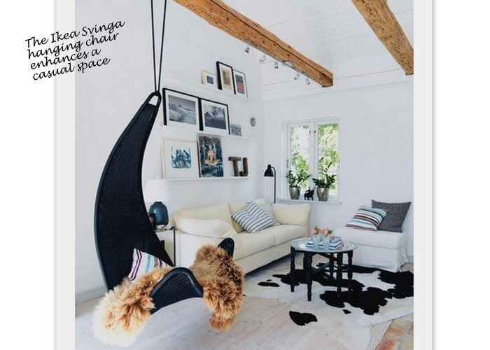 Swing Chair - One of my favorite chairs!  Was great when I was nursing my babies.  Better then a glider!!!: Decor, Summerhouse, Idea, Living Rooms, Expo Beams, Summer House, Interiors Design, Swings Chairs, Hanging Chairs