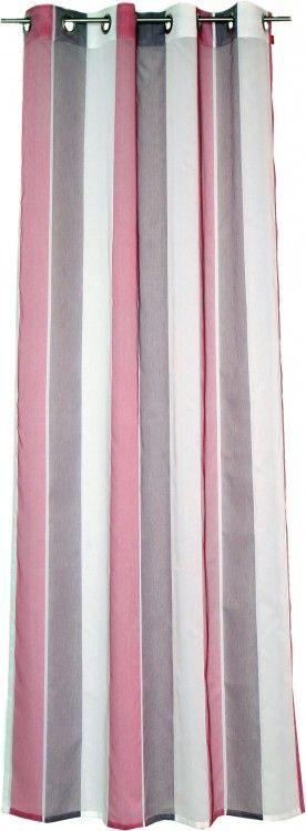 Esprit Fertigschal Dekoschal Ösenschal Lista pink 130x245cm Gardinen & Wohntextilien Gardinen Fertiggardinen Ösenschals