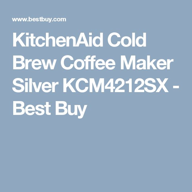KitchenAid Cold Brew Coffee Maker Silver KCM4212SX - Best Buy