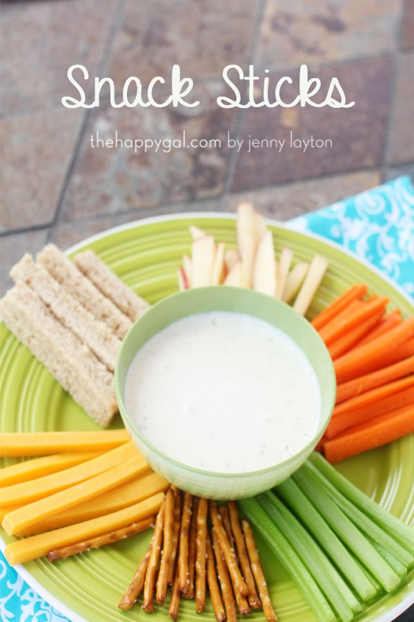 Healthy Kids Snack Idea: Simple Summer snack sticks.