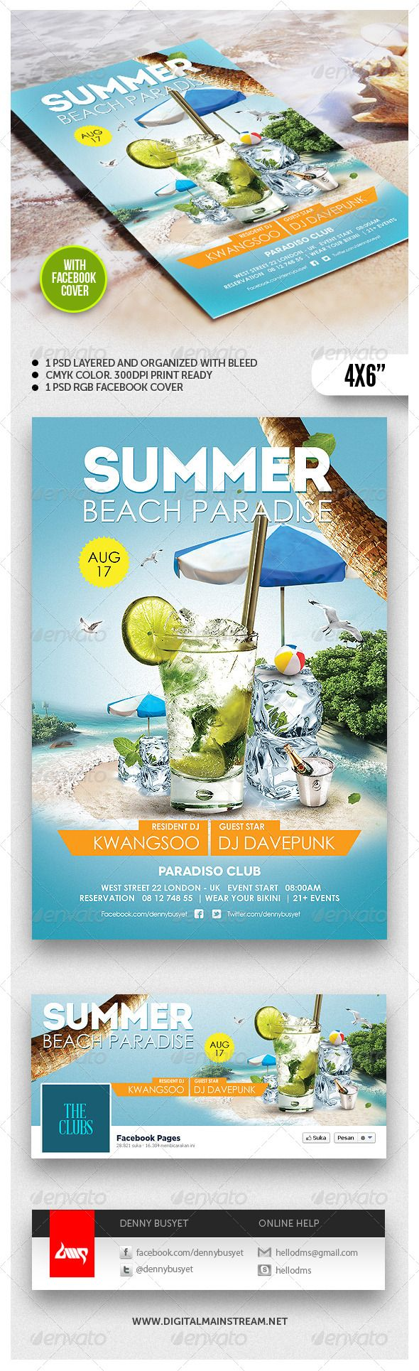 Summer Beach Paradise Flyer Template Download PSD : http://graphicriver.net/item/summer-beach-paradise-flyer-template/4827004?ref=kwangsoo