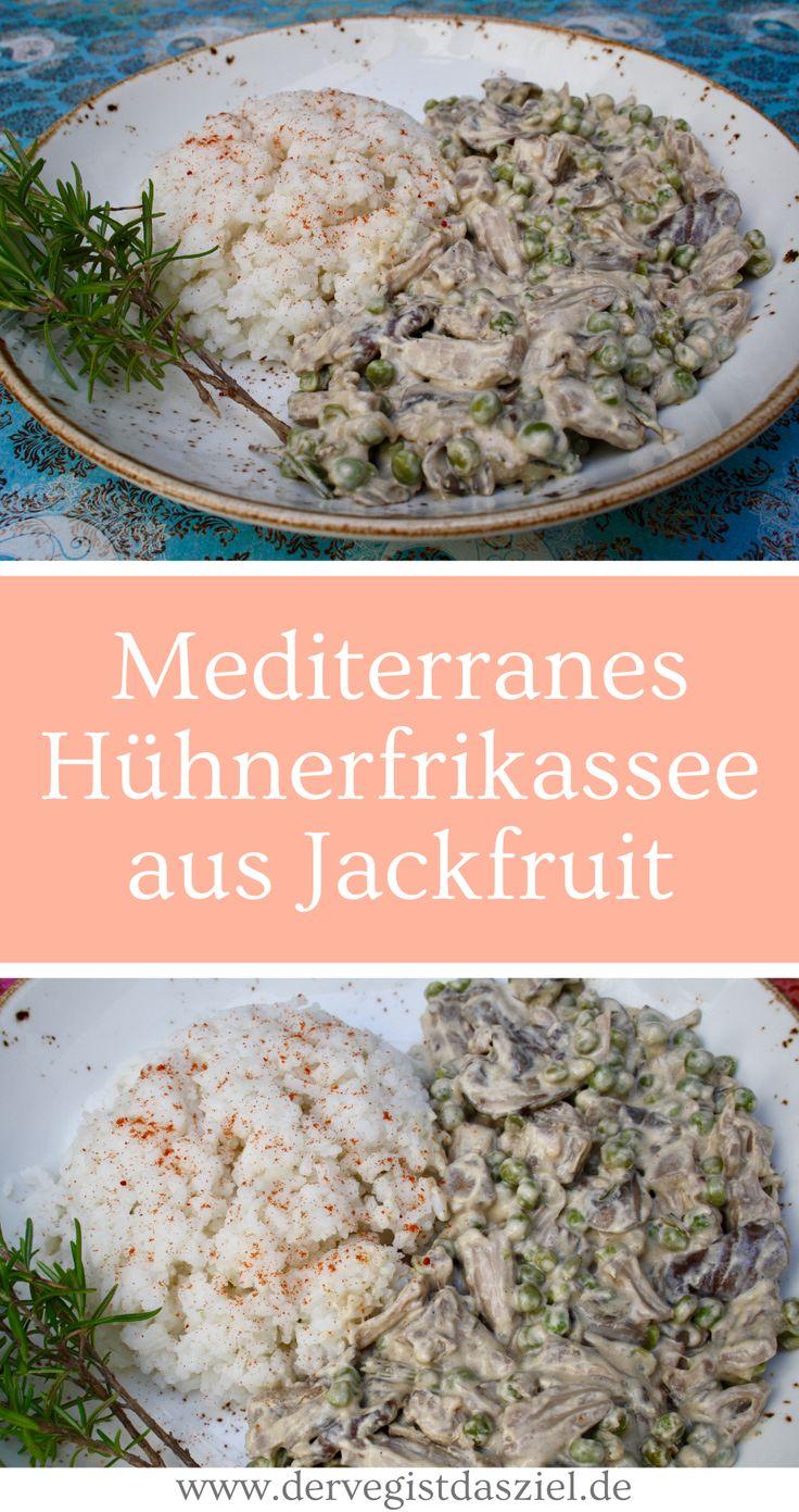 Hühnerfrikassee aus Jackfruit, vegan, glutenfrei