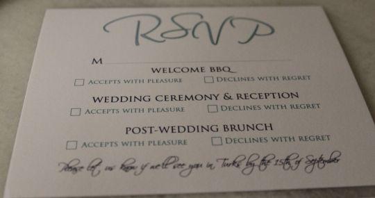 multiple event rsvp card
