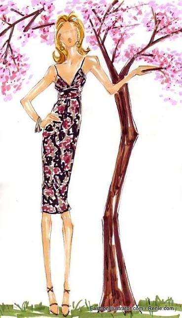 Renie Hanna ( Renie ) #watercolor #fashion #illustration