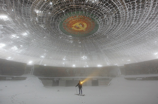 Buzludzha-Monument-in-Bulgaria: Photos, Timothy Allen, Ghosts Town, Places, Architecture, Old Building, Buzludzha Monuments, Abandoned, Bulgaria