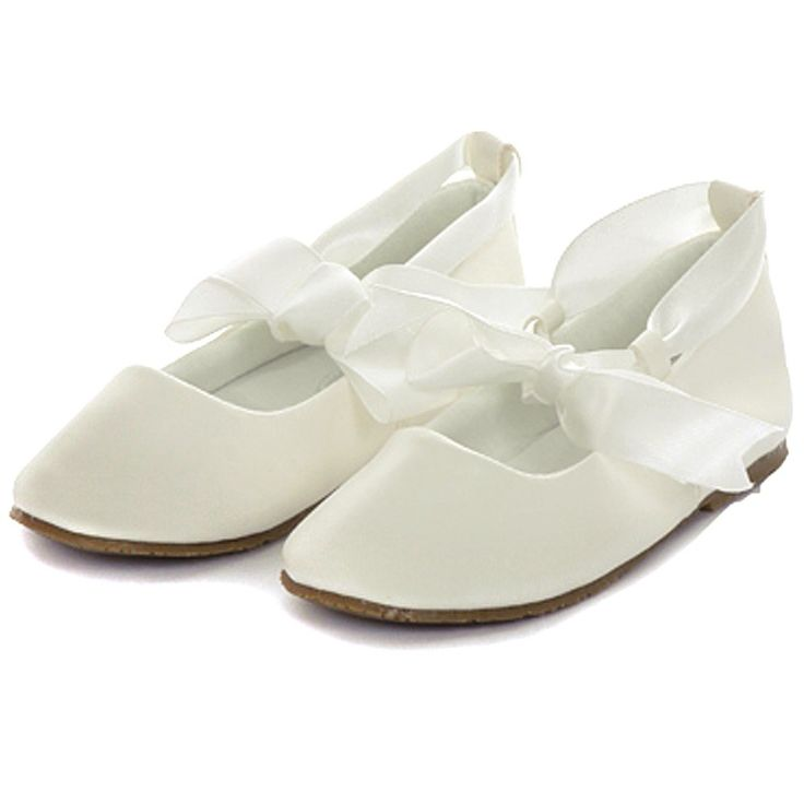 Our girls' dress shoes collection includes various styles & colors, such as ivory & white. Shop today! Find pretty flower girl shoes at David's Bridal. Our girls' dress shoes collection includes various styles & colors, such as ivory & white. Girls Crystal Ballet Flats with Ribbon Bow. RUBYY. 2 colors Added to your favorites! David's Bridal.