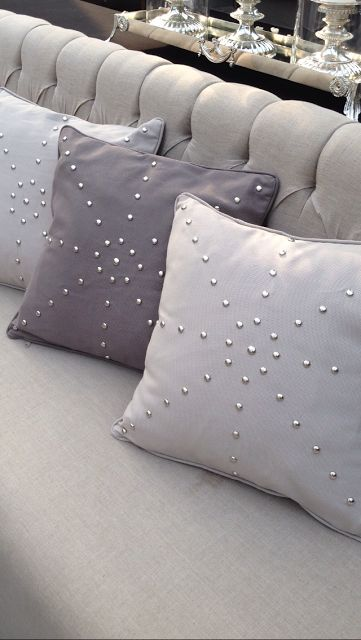 Pillows at birthday party by #bcatelier