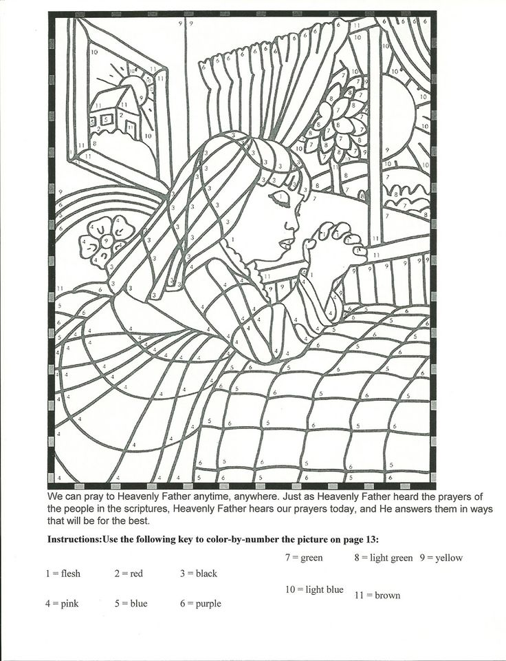 Simple Lds Prayer Coloring Page 71 Primary Manual Lesson Prayers