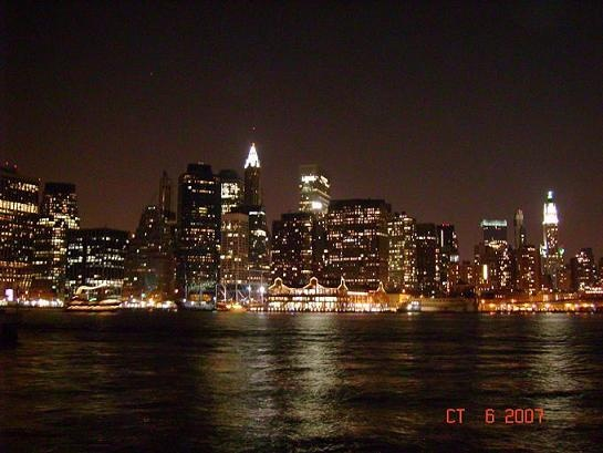 Manhattan at night. Pic taken from Brooklyn. Great NY trip!!