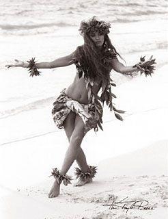 "Kim Taylor Reece ""Haunani IV"" 11 X 14 Double Matted Hawaiian Hula Print - New"