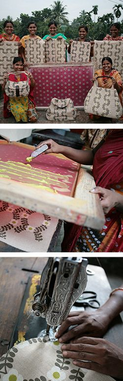 People Tree - Action Bag Action Bag and Eastern Screen Printers is a Fair Trade group that started originally to support refugees in Bangladesh. Action Bag makes unique jute bags, adding hand-screen prints in safe eco-friendly pigment dyes. Today Action Bag and Eastern Screen Printers now works with over 7000 women in Saidpur, in Northern Bangladesh.