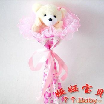 Teacher's Day pink one teddy bear Cartoon bouquet Bear Bouquet ...