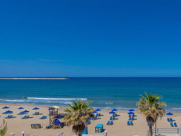 Rethymno beach  #rethymno #greece #crete #summer_in_crete #beach