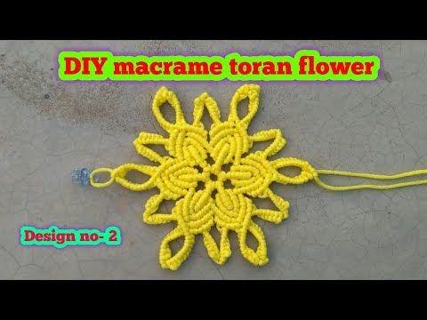 Macrame toran flower tutorial/ macrame patterns/macrame/macrame knot/macrame project/Education po - YouTube