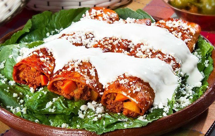 Enchiladas Morelia Style (with Chorizo and Potatoes)