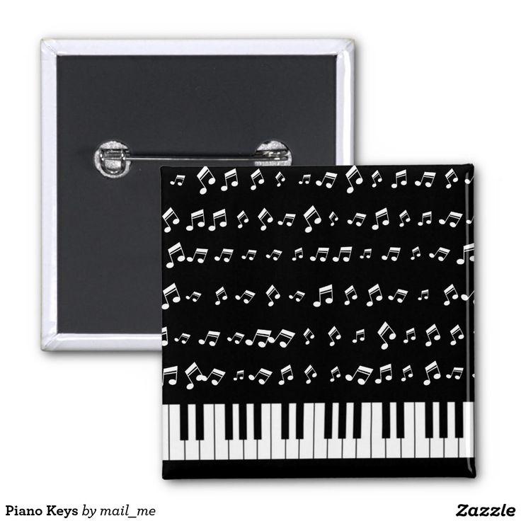 Piano Keys 2 Inch Square Button