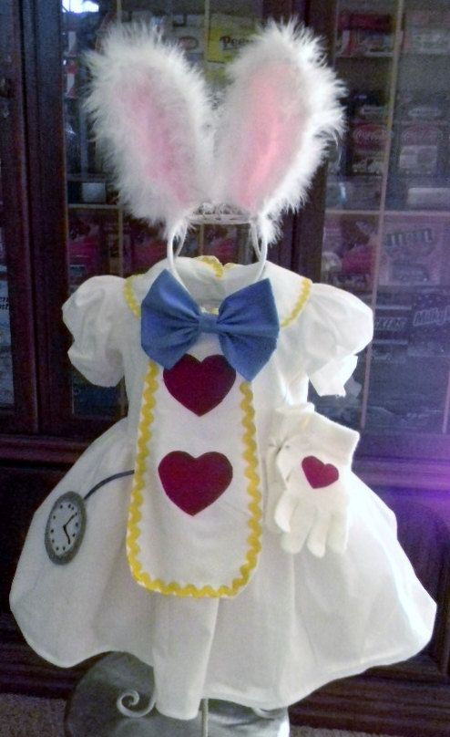 Alice White Rabbit inspired Dress WITH by Heartfeltcostumes, $50.00...for baby...adorable!