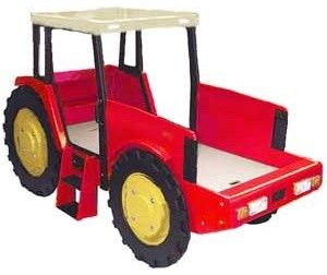 Oh.My.Gosh! Sadly a 1,000$ plus price tag! Grr! Tractor Bed - eclectic - kids beds - other metro - by Cool Kids Furniture
