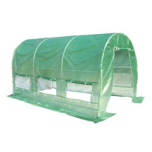 Greenhouse 15 X7 Arch Large Green Garden Hot House New