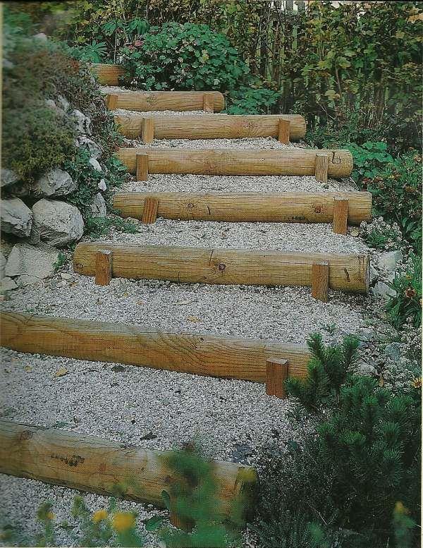 Costruire dei gradini in giardino cerca con google - Costruire scale in legno ...