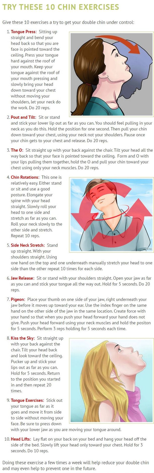 Want To Get Rid Of Stubborn Double Chin And Neck Fat? These 10 Easy Exercises Will Eliminate It In No Time! video health life hacks videos viral viral videos viral right now health videos