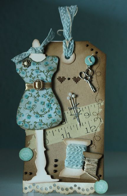 Cute dress form on this cute tag, really adorable