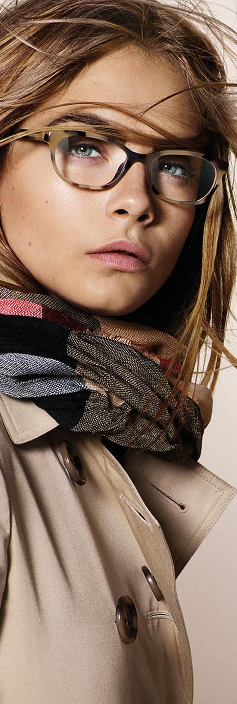 New eyewear from the Trench Collection - reflecting the buttons of the iconic Burberry trench coat