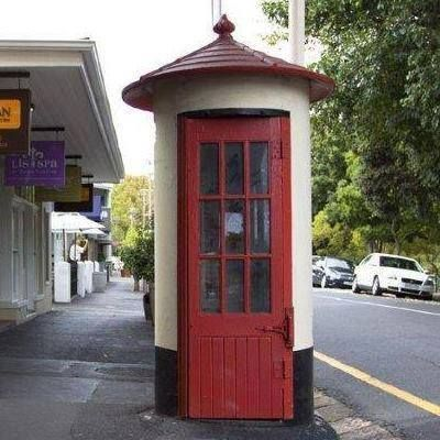 Telephone booths back then (I remember they were always so dirty inside)
