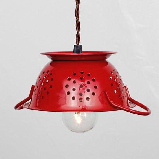 lamparas con coladores (10) hazlo tu mismo!!