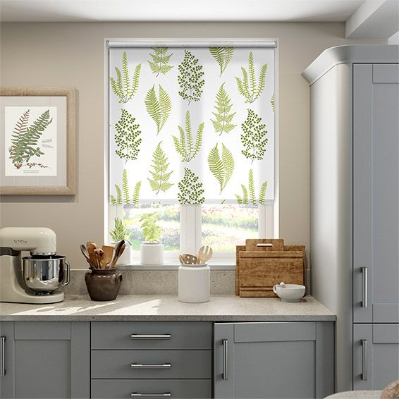 Angel Ferns Olive Roller Blind from Blinds 2go