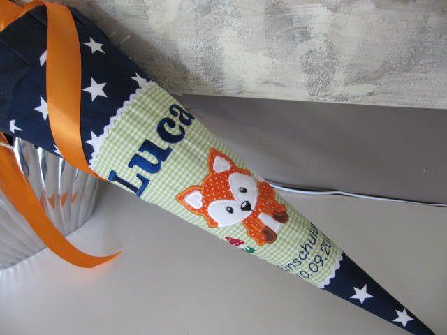 """Schultüten - Schultüte Zuckertüte Einschulung """"schlauer Fuchs"""" - ein Designerstück von Lottanelli bei DaWanda"""