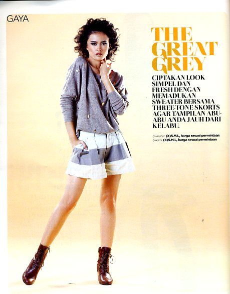 (X)S.M.L Skull Grey Sweater and Shorts are appeared on Cita Cinta - 13-27 November 2013