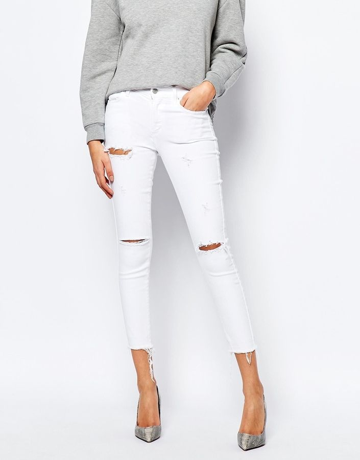 A-Gold-E Sophie Ankle Grazer Distressed Skinny Jeans With Raw Hem. These are so hot right now, you need to get them before they sell out! Get them now on ShopStyle!