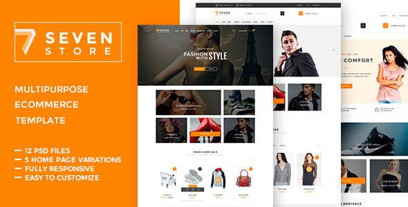Seven Store - Ecommerce HTML  Template #webdesign #website #design #responsive #besttemplates #template #SiteTemplates #Retail #Shopping
