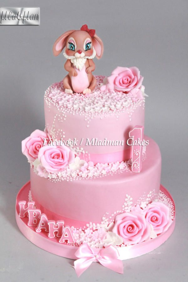 Bunny Baby 1th Birthday Cake by MLADMAN