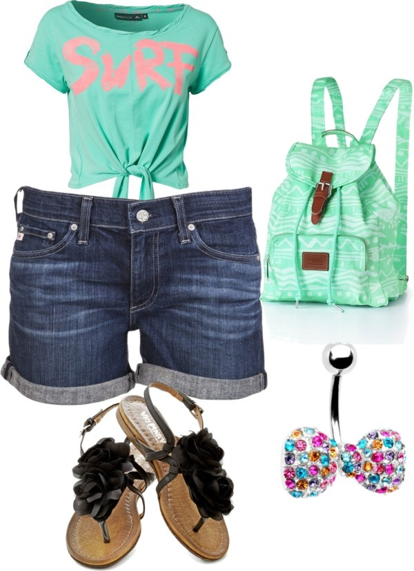 """""""Beach Day"""" by klp2512 on Polyvore Cute for teen"""