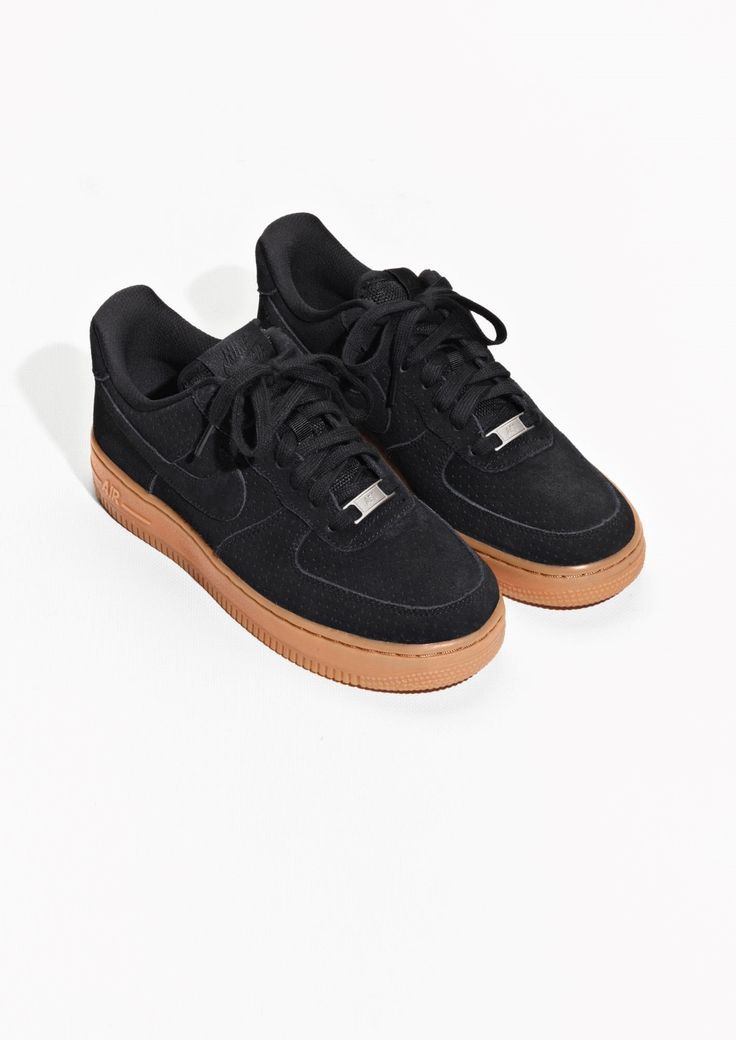 new concept d7b40 82ea0 I have these black suede Air Force 1 s with gum soles. Could use some ideas  of how to style them.