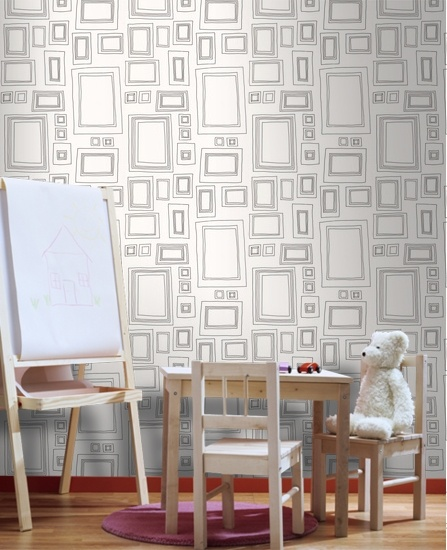 52050 Taylor & Wood Taylor & Wood - Frames White,Black Motif,Geometric Wallpaper | Graham & Brown