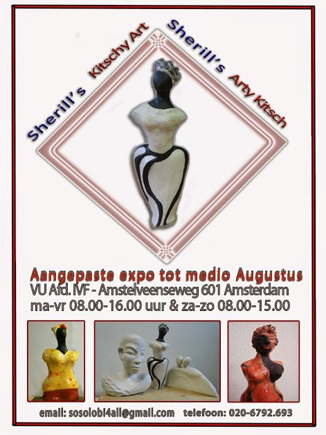 Digital Flyer of the extended Exhibition at the VU hospital dept. IVF - july-august 2014j