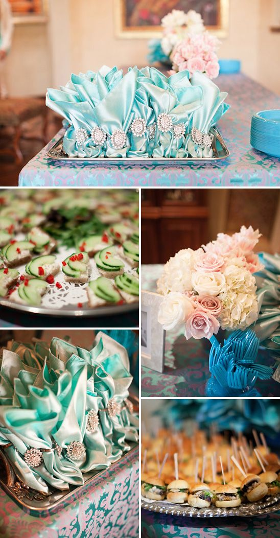Tiffany Blue Baby Shower: Shower Ideas, Baby Love, Blue Baby Showers, Blue Parties, Tiffany Blue, Blue Shower, Baby Sliders, Blue Cocktails, Blue Bridal Shower