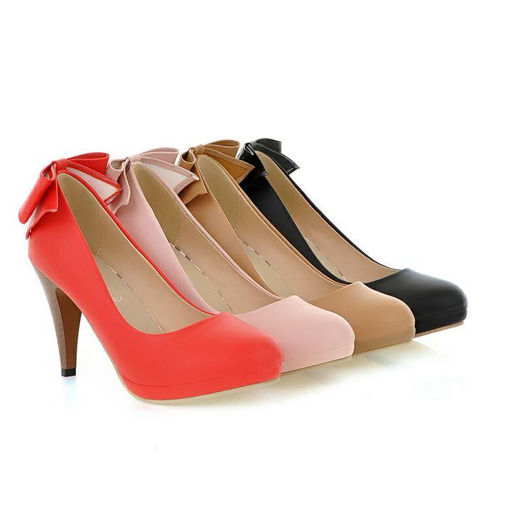So sweet http://www.lovelyshoes.net/Cute-graceful-high-heels-bowknot-pumps-Z-QQHQ129-7-g102114.html