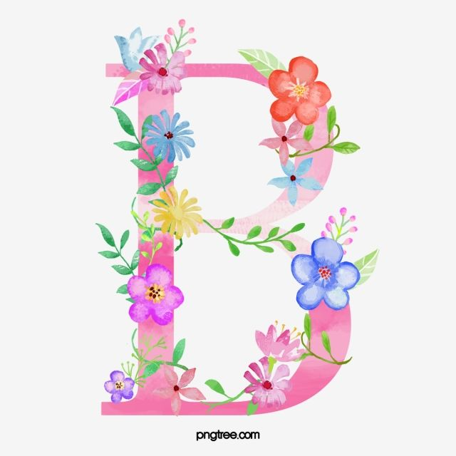 Flowers Letter B Letter Flower B Png Transparent Clipart Image And Psd File For Free Download Flower Letters Flower Alphabet Floral Letters