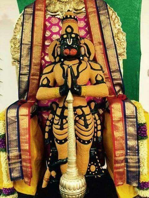 Sri hanuman in sandalwood alangaram   jai shree Ram