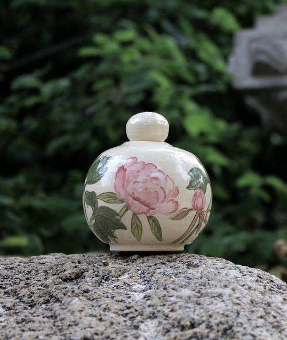 Keepsake Peony Urn  cremation small urn tiny urn baby urn