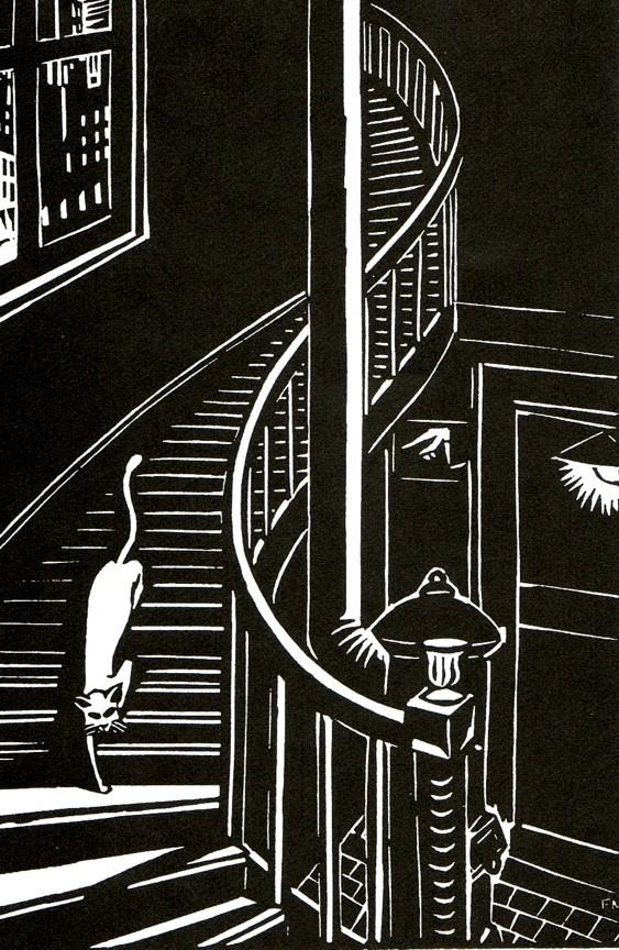 Illustration from Frans Masereel's 1925 book of wood cut prints entitled 'Die Stadt'