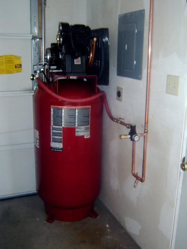 package a shop garage system lowes compressor done line this plumbing in kit air
