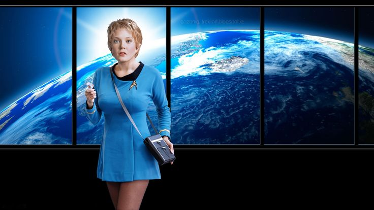 Kes Jennifer Lien in Retro Star Trek by gazomg.deviantart.com on @DeviantArt