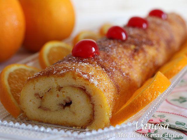 Esta torta de laranja o brazo de gitano de naranja, como más os guste llamarlo es toda una maravilla. Había leído mucho sobre este dulce, es típico de la cocina portuguesa, y hay miles de recetas en l
